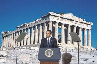 Obama-Parthenon