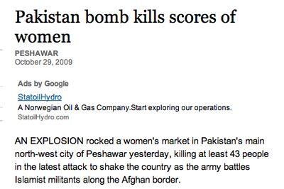 Pakistan Bomb Kills Scores of Women