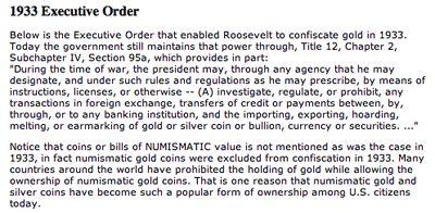 1933 Executive Order