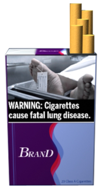 Warning Cigarettes Lung Disease