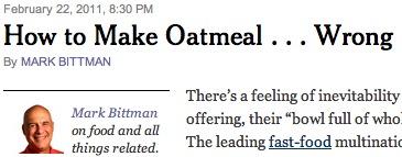How to Make Oatmeal Wrong