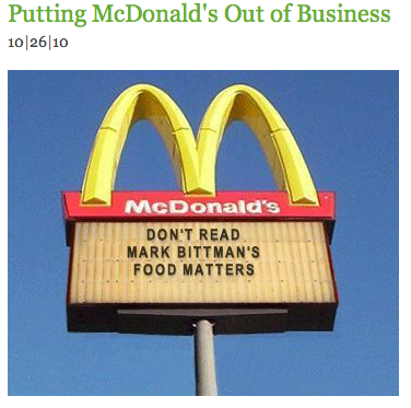 Putting McDonald's Out of Business