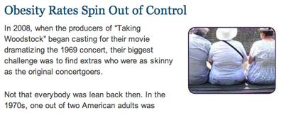 Obesity Rates Spin Out of Control