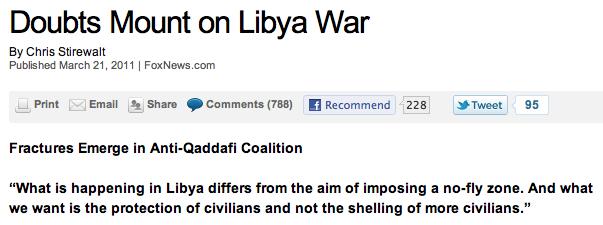 Doubts Mount on Libya