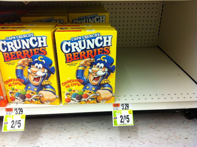 Capn Crunch Sold Out