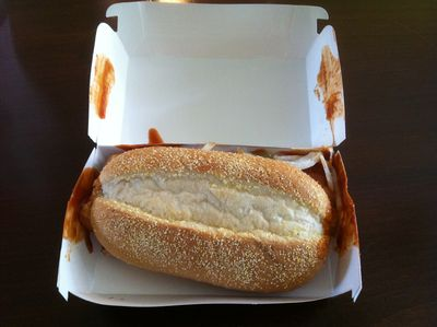 McRib Box Open