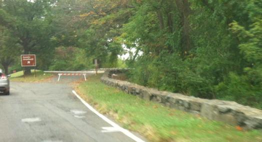 Barricaded Scenic Overlook GW