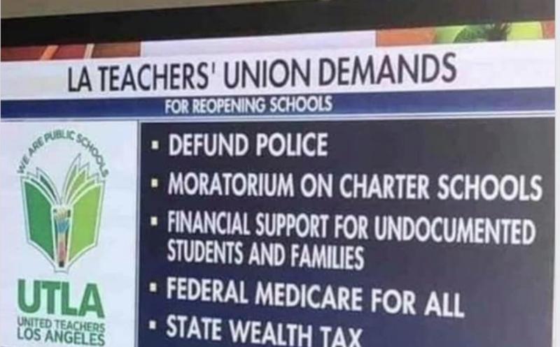 LA Teachers Union Demands
