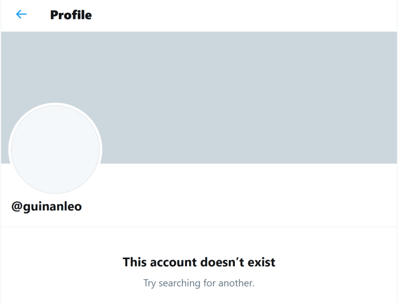 Twitter Account That No Longer Exists 2