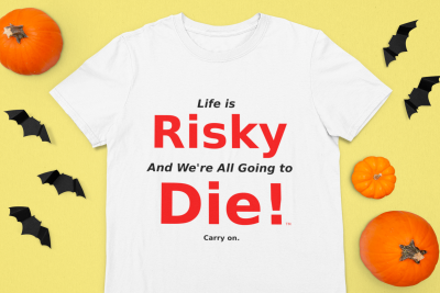 Halloween-themed-mockup-featuring-a-t-shirt-surrounded-by-pumpkins-106