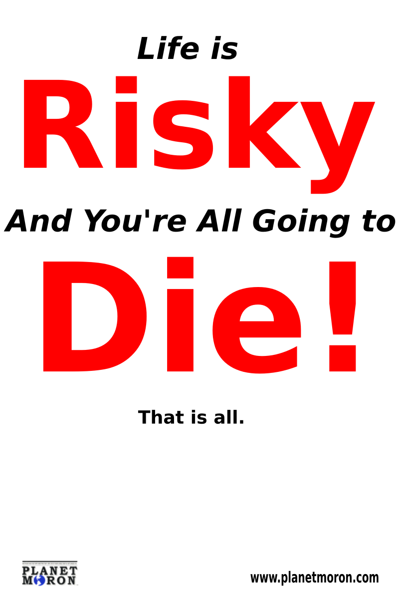 Life is Risky White
