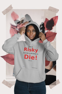 Mockup-of-a-woman-wearing-a-hoodie-featuring-a-collage-background-42538